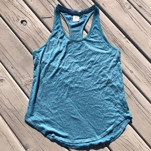 PINK Victoria's Secret Blue Racerback Tank Top
